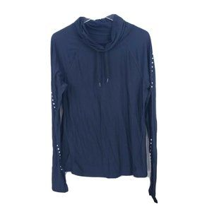 Gap Fit Reflective Cowl Neck Long Sleeve Large